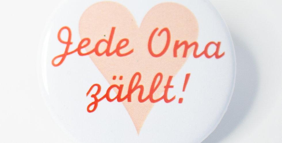 "Button ""Jede Oma zählt"""