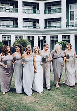 Real boho bride and bridemaids.
