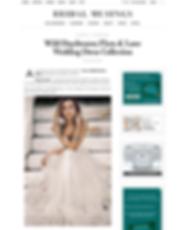Screenshot of Flora & Lane article from the Bridal Musings wedding blog.