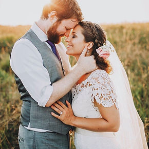 Real boho bride and groom.