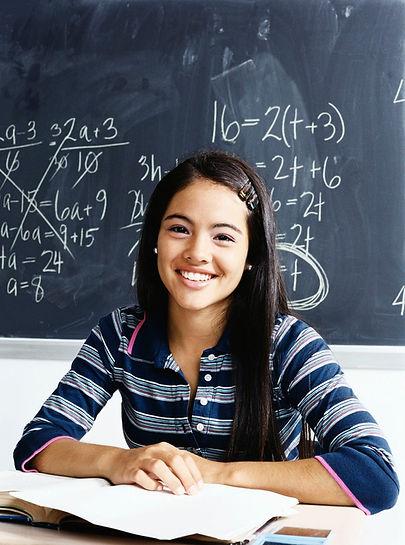 high school finance class student