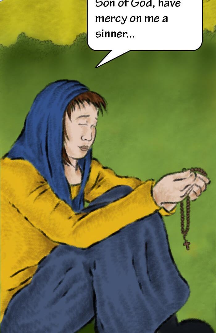 Sara and her Prayer Rope