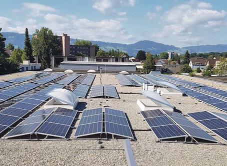 Grösste Solaranlage von Rüti ist am Netz