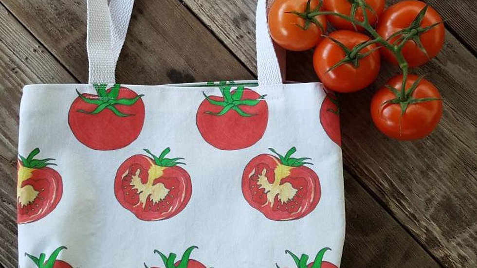 Red Tomatoes Farmer's Market Tote Bag