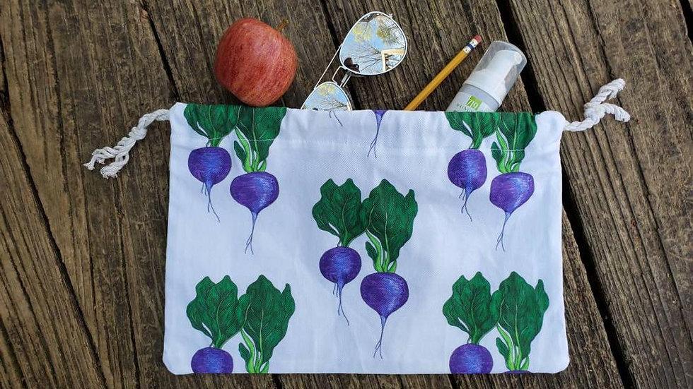 Radish Produce Drawstring Bag