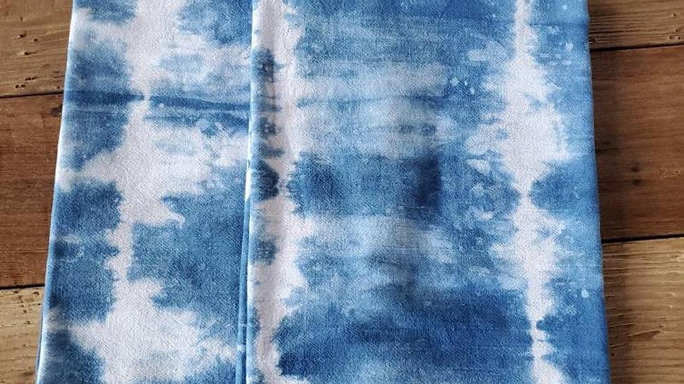 Natural Indigo, Hand Dyed, Shibori Tea Towel