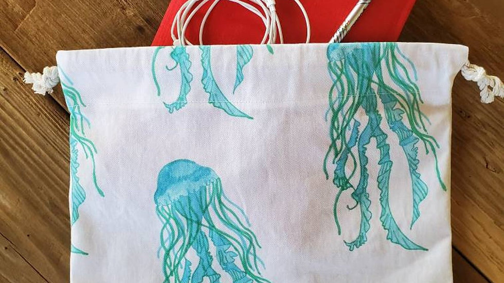 Jellyfish Produce Drawstring Bag