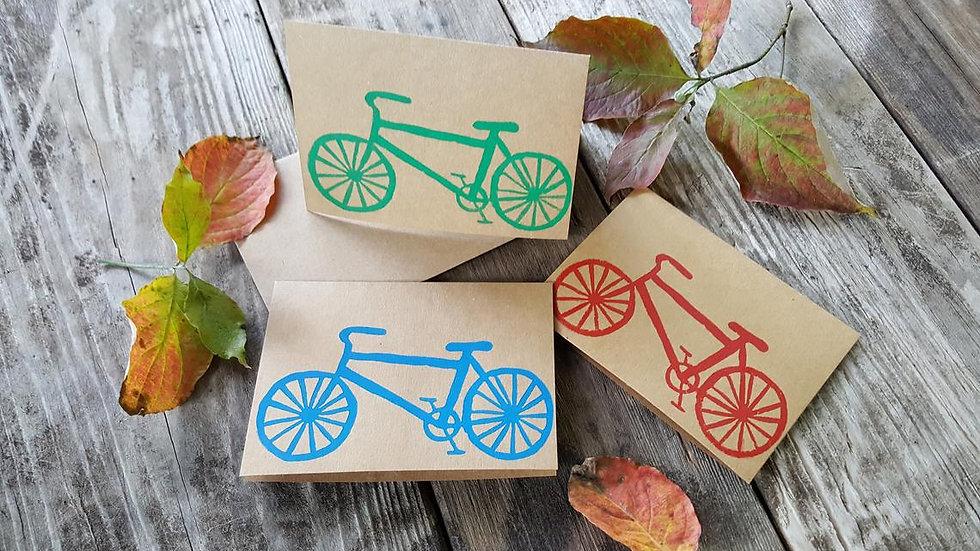 Hand Printed Bicycle Notecards