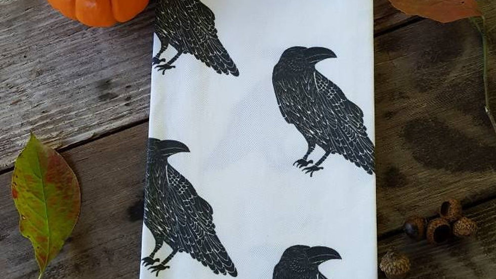 Raven Tea Towel