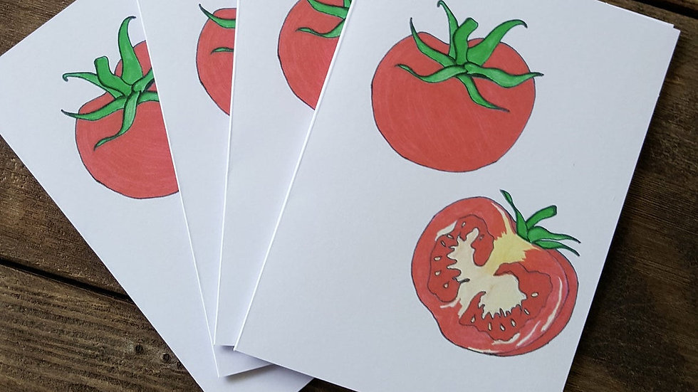 Hand Illustrated Tomato Greeting Cards