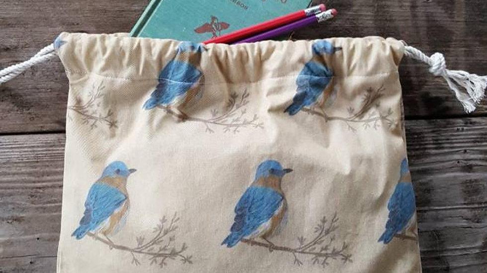 Bluebird Produce Drawstring Bag