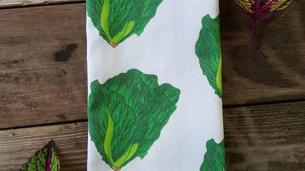 Handmade, 100% Cotton, Lettuce Tea Towel