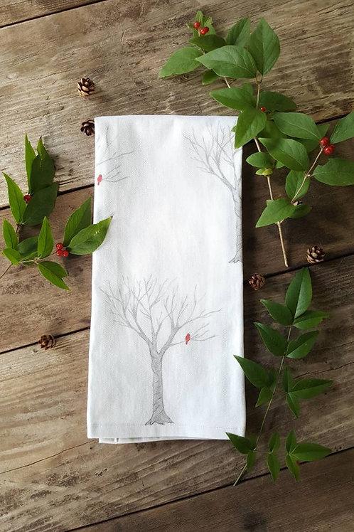 Handmade, 100% Cotton Cardinal Tea Towel
