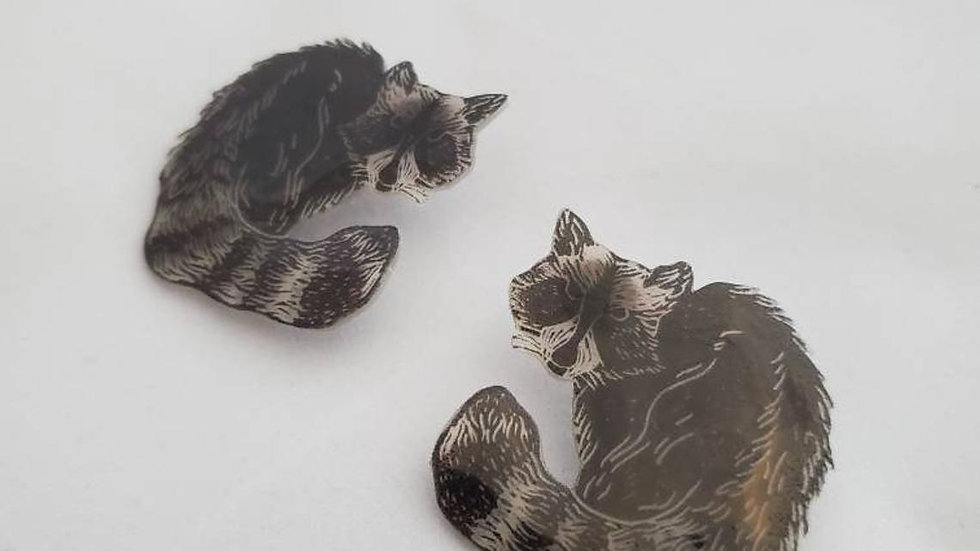 Raccoon Earrings