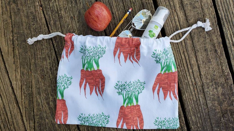 Carrot Produce Drawstring Bag