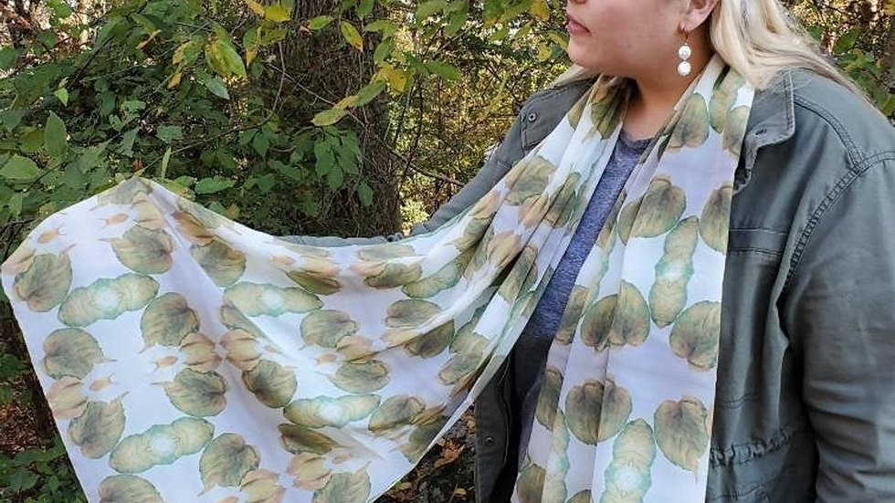 Burgess Falls Leaves Silk Scarf