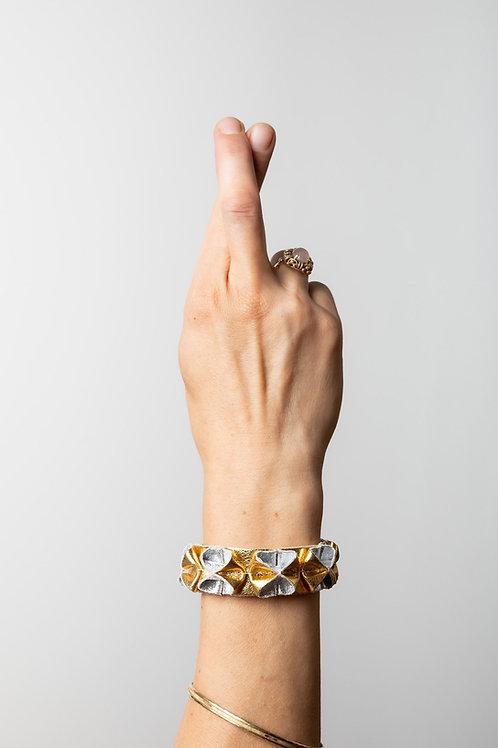 """Armband """"Goldhexe"""", Leder"""
