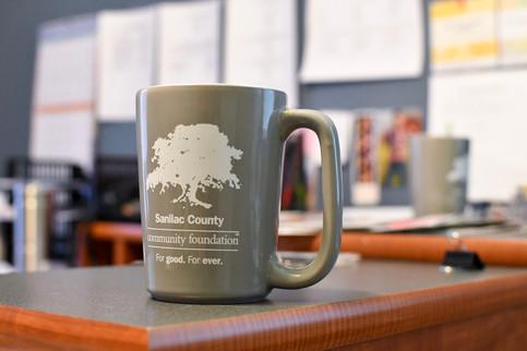 Coffee mug for the Sanilac County Community Foundation