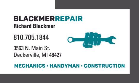 Blackmer Repair Business Card Design