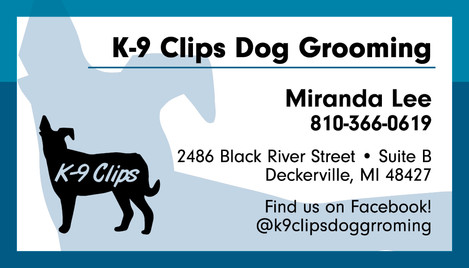 K-9 Clips Dog Grooming Business Card Des