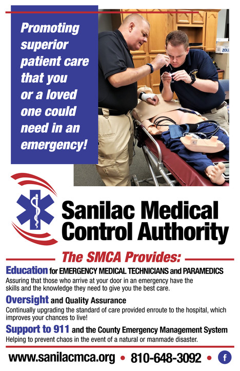 Sanilac Medical Control Authority Poster