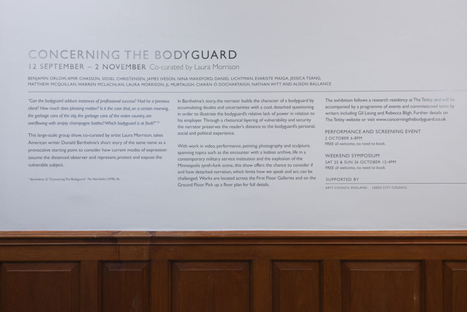 Concerning the bodyguard, The Tetley