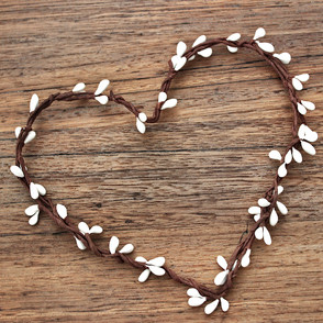 Handmade Berry Wreath Heart