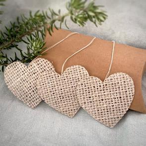 Handmade Hessian Hearts