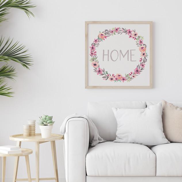 Home Sign Print