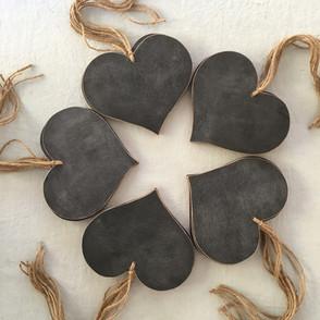 Handmade Chalkboard Hearts