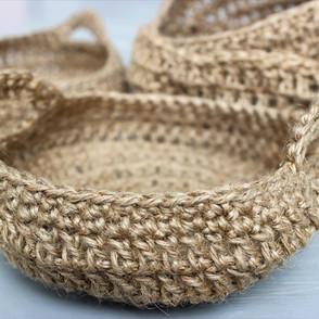 Handmade Crochet Baskets