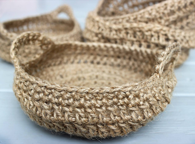 Handmade Crochet Baskets