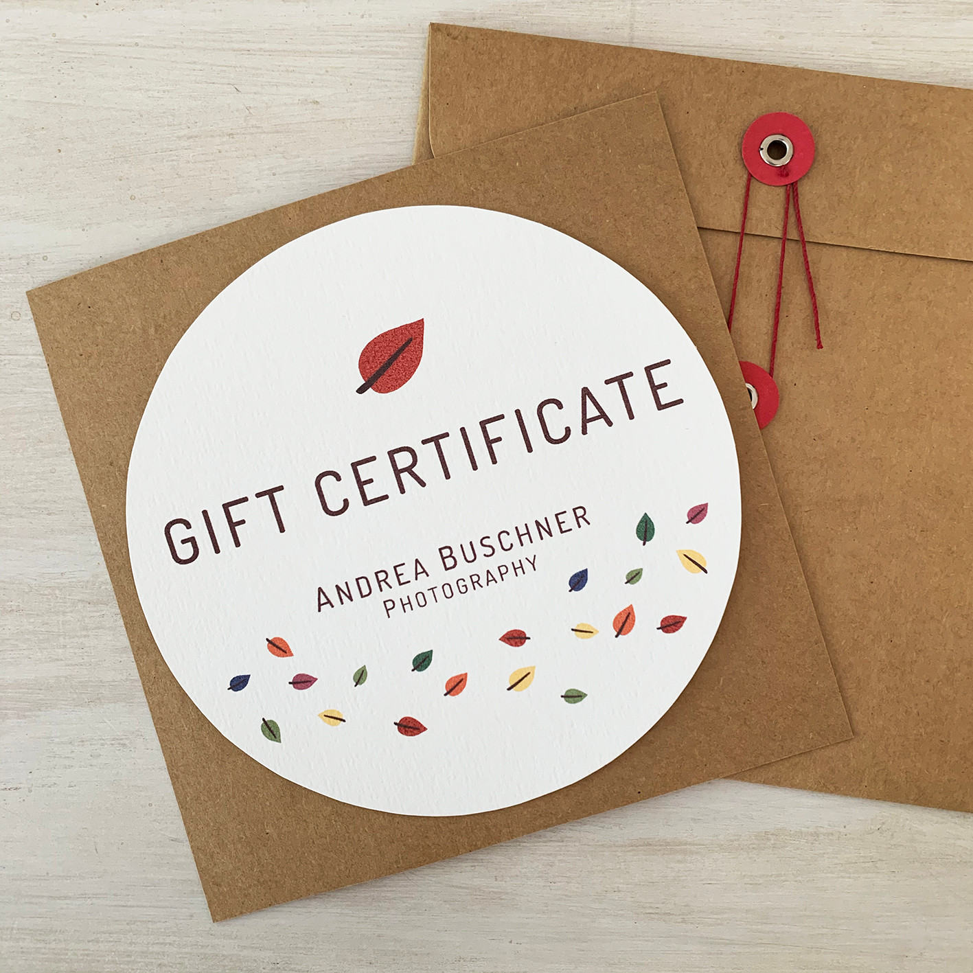Branded Gift Certificate