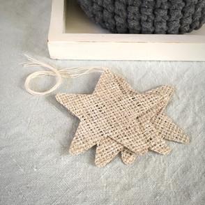 Handmade Hessian Stars