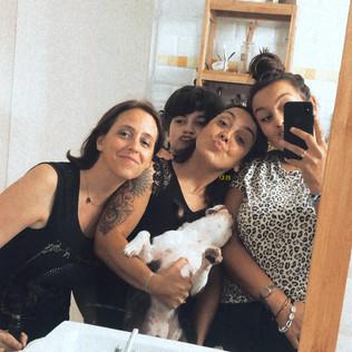 Silvia, Céline et ses deux enfants