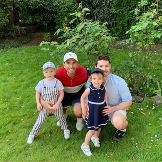 Christophe, Julien et leurs jumeaux