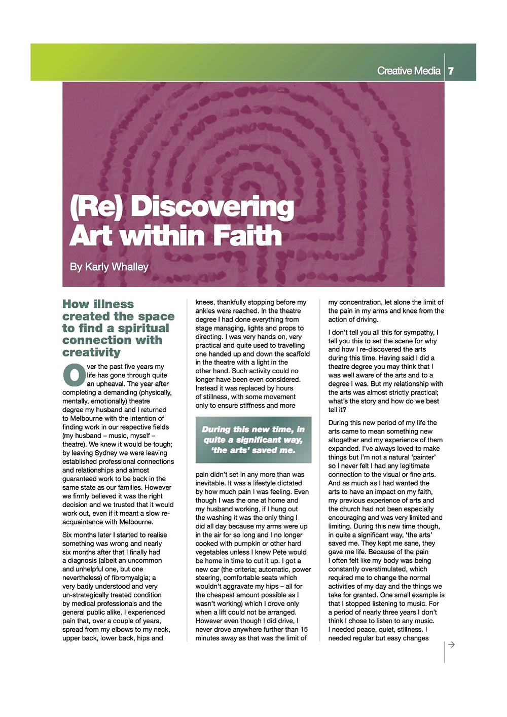 Equip 8:2011. ReDiscovering Art Thru Faith for images.jpg
