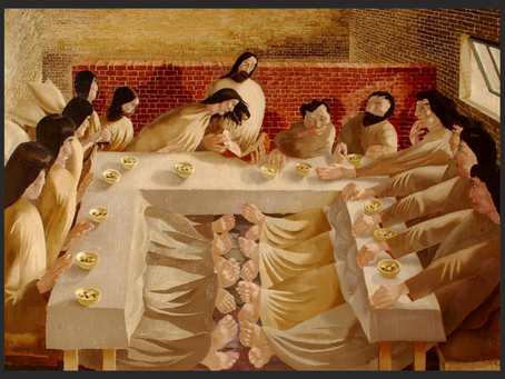 Maundy Thursday - Last Supper by Stanley Spencer