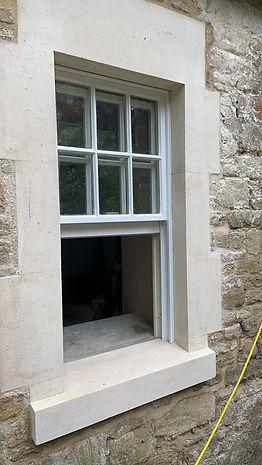 Building restoration project in Bath, England
