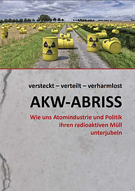 Titelbild als Downloadvorlage der AKW-Rückbau-Broschüre versteckt-verteilt-verharmlost AKW-Abriss