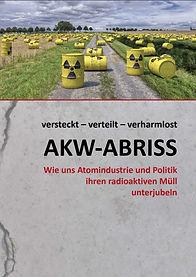 """Atomschutt-Broschüre von BAESH mit dem Titel """"versteckt-verteilt-verharmlost"""""""