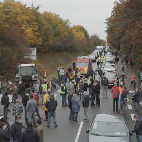 Atomschutt-Blockade: 1.500 Menschen protestieren gegen Zwangszuweisung auf Deponie in Harrislee