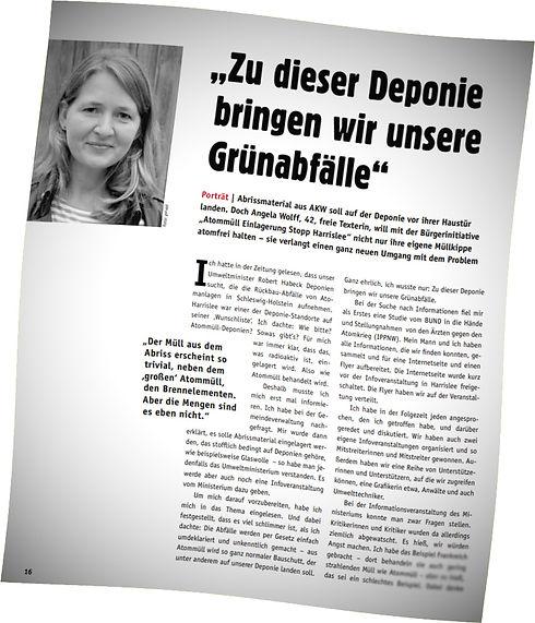 Ausschnitt eines BAESH-Portraits im ausgestrahlt-Magazin mit BAESH-Sprecherin