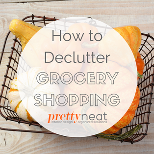 How to Declutter Grocery Shopping