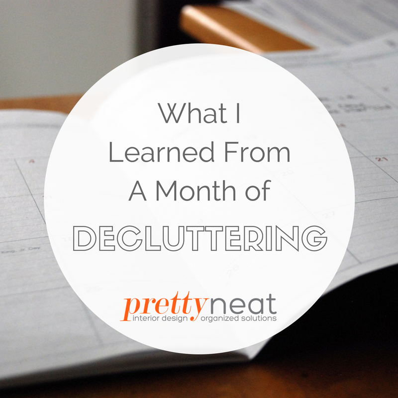 month of decluttering