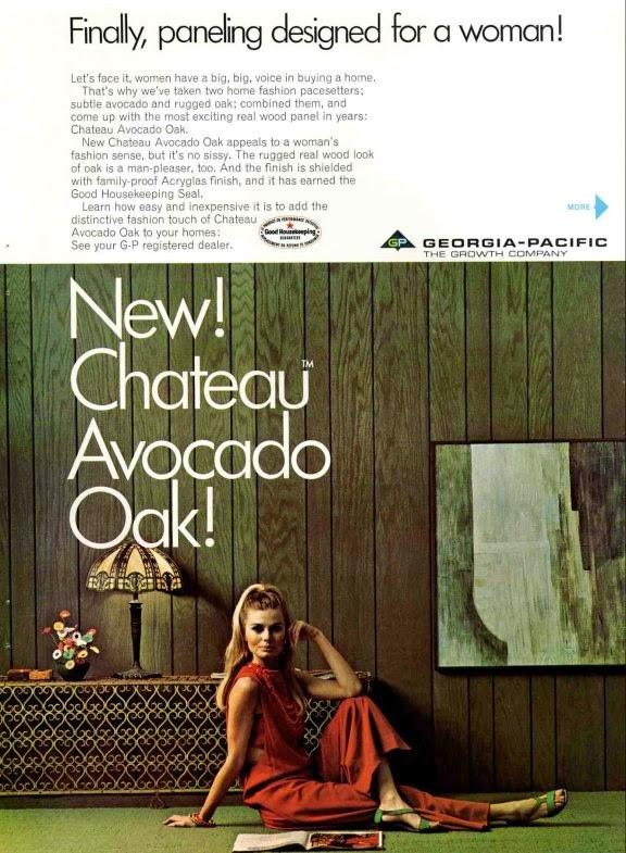 wood panel advertisement