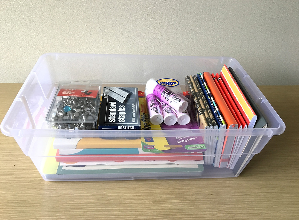 organize supplies