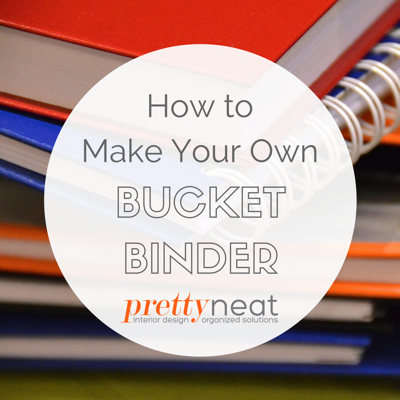 make a bucket binder