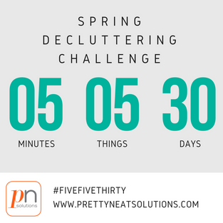 Join my April Decluttering Challenge FiveFiveThirty