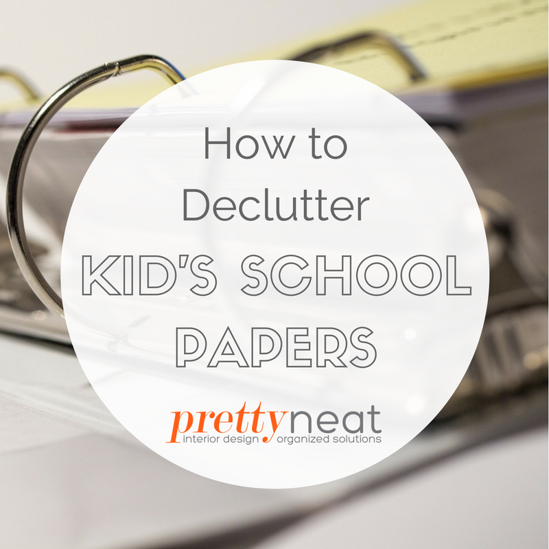 declutter schoolwork